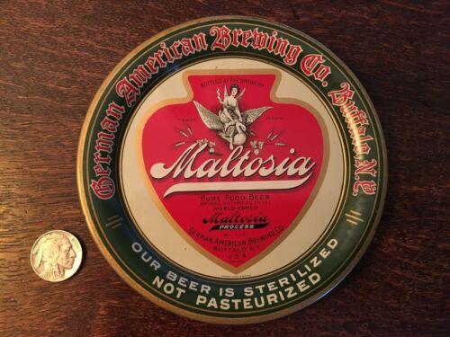 Maltosia Vintage Tip Tray - German American Brewing Co - Buffalo New York *MINT*