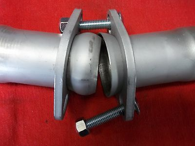 CUSTOM BALL & SOCKET FLANGE EXHAUST CONNECTOR/REDUCER 409 STAINLESS STEEL