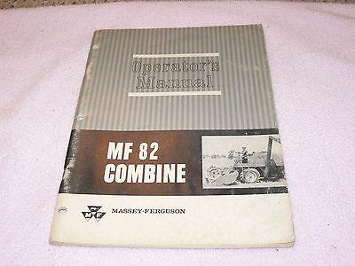 Massey Ferguson 82 Combine Operators Manual