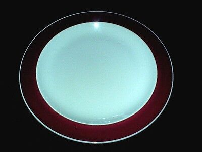 WEDGWOOD WINDSOR GREY / Burgundy Red 9 inch Plate x1 c1954 (3 available)