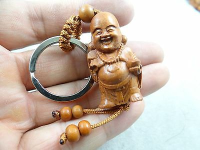 40*20MM Hand-carved Monk Wooden Crafts,Key Chain,Key Ring Lover  D20