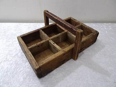 Antique Wood Flaschenkasten/Carrier/Holder - Vintage around 1900 - Handgefertigt