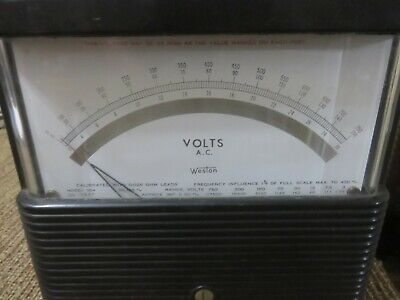 Weston Volt Ac Meter Model 904