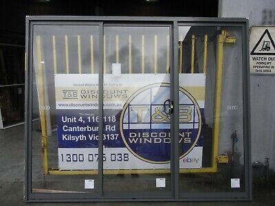 Aluminium Center Opening Door 2100H x 2600W (Item 4115/2) Woodland Grey