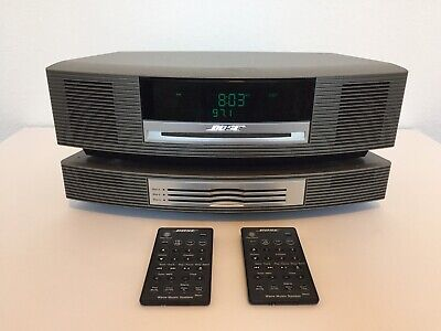 Bose Wave Music System AWRCC1 With Multi CD Changer, Cord & 2 Remotes Tested