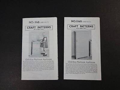 Rare Patterns for Child-Size Playhouse Appliances -Stove Sink Fridge & Cupboard