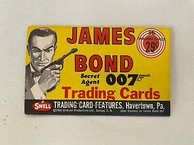 1965 GLIDROSE SWELL JAMES BOND RACK PACK HEADER CARD