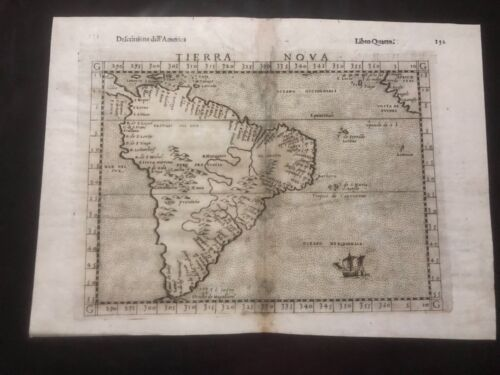 South America, Tierra Nova, Ruscelli original map