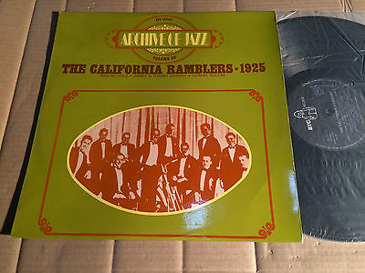 THE CALIFORNIA RAMBLERS - 1925 - ARCHIVE OF JAZZ VOL. 39 - LP - BYG 529089