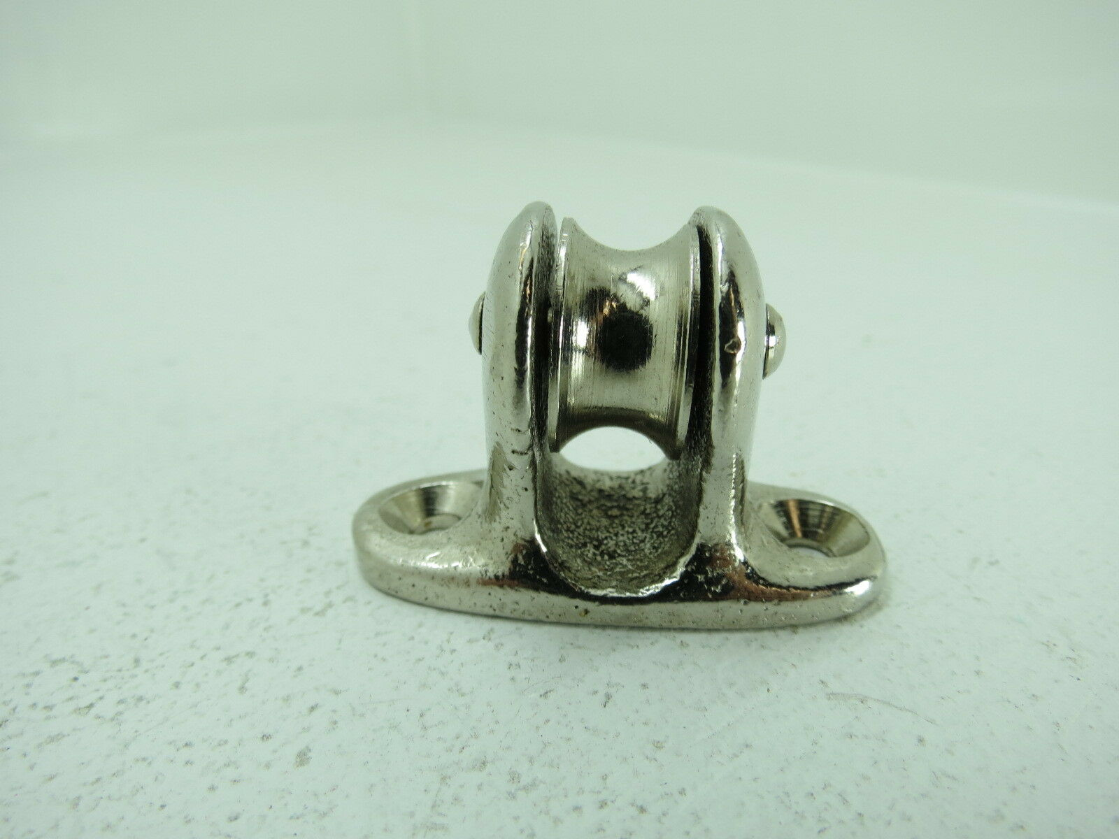 34 INCH CHROME OVER BRONZE DECK PULLEY BLOCK BOAT SHIP BRASS TACKLE C4B228