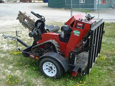 "Toro TRX-16 Trencher Track 6""x30"" Low 120 Hours Excellent"