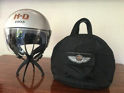 "HARLEY-DAVIDSON 100 Years of Great Motorcycles ""BONFIRE"" Helmet w/Bag (Medium)"