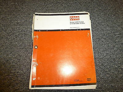 Case 1070 Tractor Part Catalog Manual Sn 8675001 After A1173