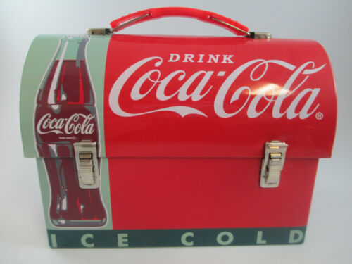 Coca-Cola Workman Tin Lunch Box Red Contour Bottle Drink Coca-Cola Retro Carry