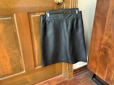 Womens Leather lined A-line skirt by Siena Studio size 4 preowned (chocolate)