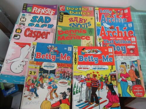 Archie Harvey Gold Key lot of 11 Silver & Bronze Age