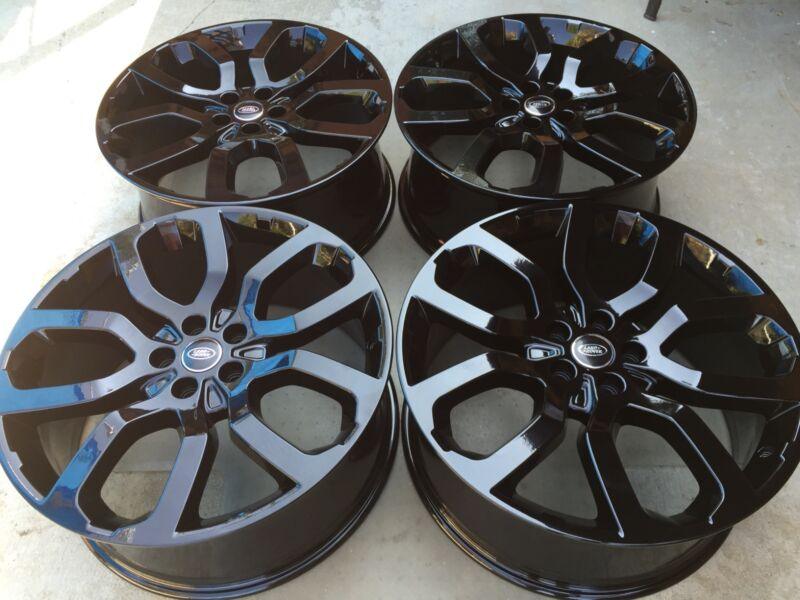 "22"" New Black Oem Factory Original Range Rover Supercharged Autobiography Wheels"