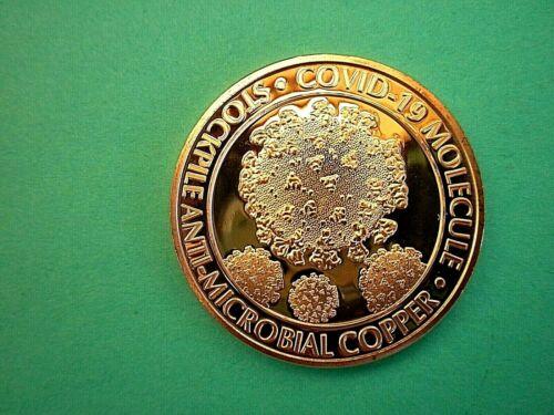 C -19 MOLECULE.  Copper Round Coin  1 oz. #1