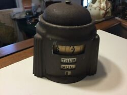 Vintage1930's Art Deco Rotary Annular Clock - Good Working Condition Nice Look!
