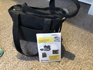 Medela slouch bag double pump. Breast pump