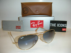 Ray Ban Gold Frame Blue Lens