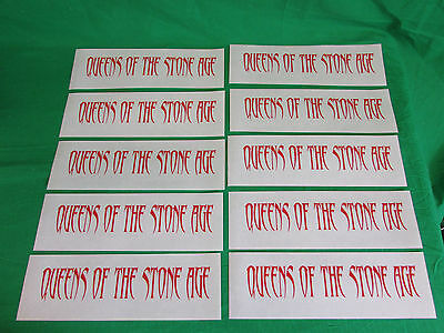 Lot of 10 Queens Of The Stone Age cling window decal stickers for sale  Waterbury
