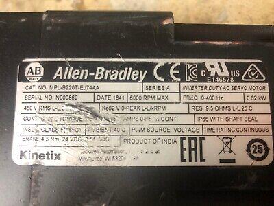 Allen Bradley Mpl-b220t-ej74aa Mplb220tej74aa Low-inertia Brushless Servo Motor