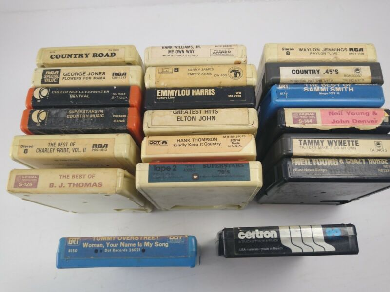 Lot of 20 8 Track Tapes Country Rock