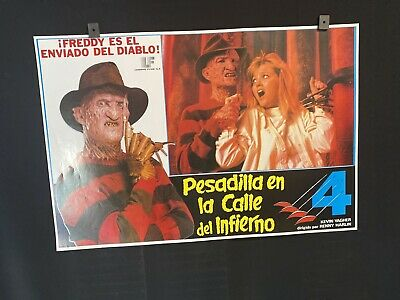 "Original 1988 A NIGHTMARE ON ELM STREET 4 16""x24"" Mexican Movie Poster HORROR"