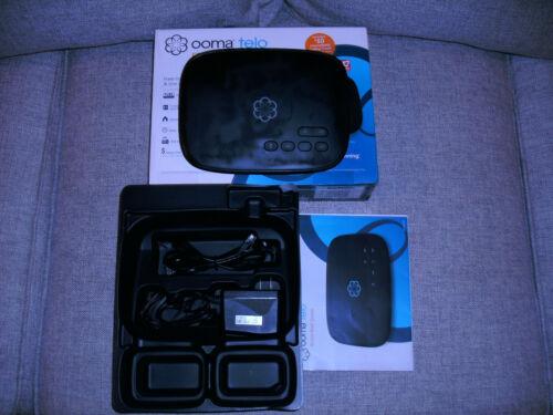 OOMA Telo Free Home Phone Service VoIP Phone - Black