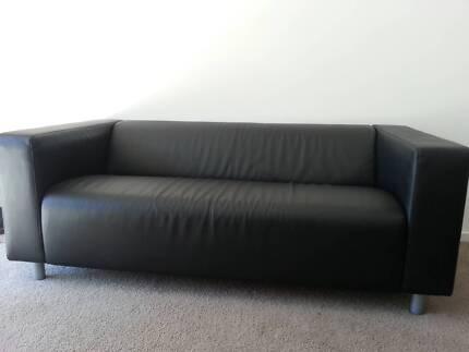 black sofa in great condition