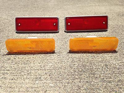 NEW Front and Rear Side Marker Lens Light Set of 4 1982-1987 El Camino ()