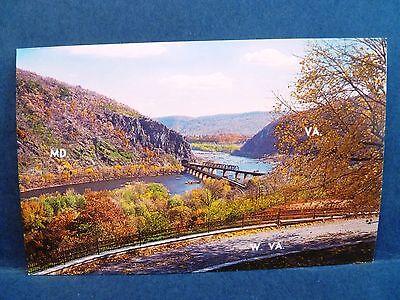 Postcard Wv Harpers Ferry Three States Potomac   Shenandoah Rivers