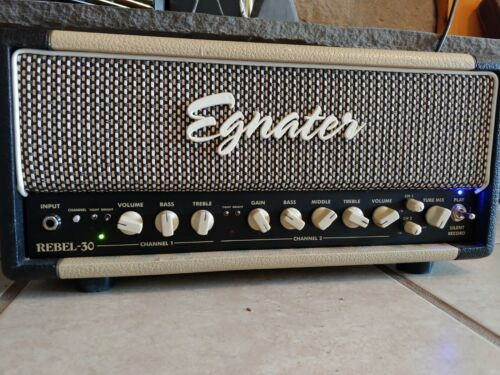 Egnater Rebel 30 Guitar Head W/ Mesa Boogie 6V6 Tubes. Variable 30W Tube Head
