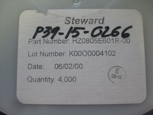 HZ0805E601R-00 FERRITE BEAD 600Ohm 0805 1LN (LOT OF 100)
