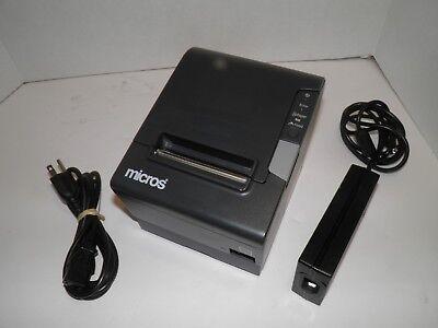 Micros Epson M244a Tm-t88v Thermal Pos Receipt Printer Idn Printer W Power Suppl