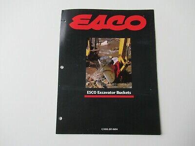 Esco Excavator Buckets Brochure