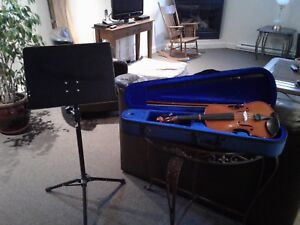 Violon, lutrin