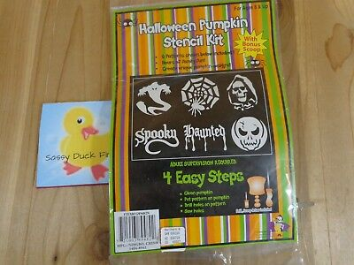 Halloween Pumpkin Stencil Kit With Scoop Drill Saw 6 Patterns 4 Easy Steps
