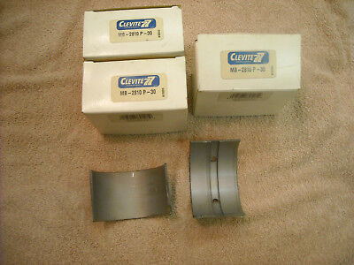 3 Sets Of Clevite Mb-2810p - 30 Main Bearings For A Case 188 Or 207 Engine