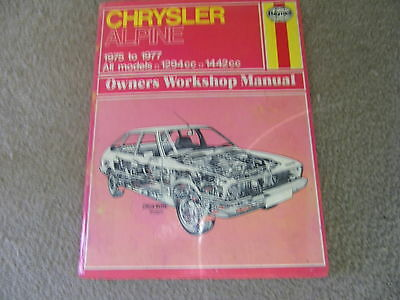 Chrysler Alpine Haynes Manual   19751977   All Models