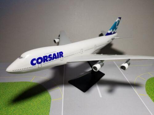 FLIGHT MINATURE CORSAIR AIRLINES 747-200 1:250 SCALE PLASTIC SNAPFIT MODEL