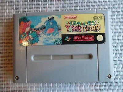 Jeu Super Nintendo / Snes Game Super Mario World 2 Yoshi's Island Pal save ok