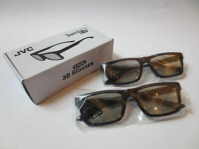 JVC Passive Theater Xinema View 3D Glasses #1625-1200-8400 - 2 Pairs