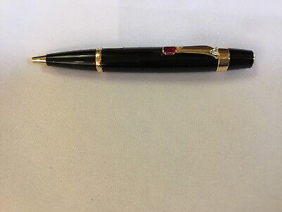 Montblanc Rouge/Noir Boheme Rouge Gold-Plated Clip Black Resin Ballpoint Pen
