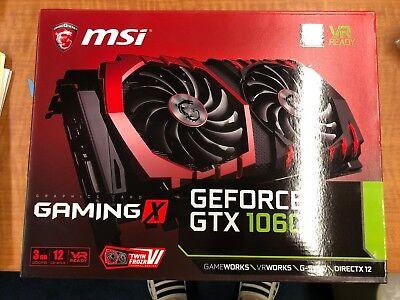MSI GeForce GTX 1060 Gaming X 3GB GDDR5 Video Graphics Card NVIDIA