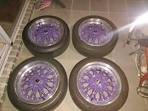 ROH Chicane three-piece wheels with tyres 16x8 +40 4x100 Sunshine Brimbank Area Preview