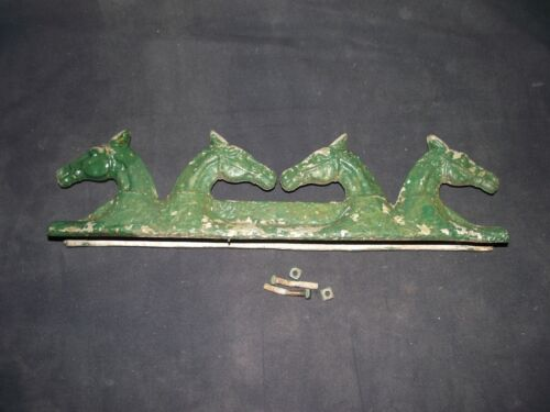 Vintage Chain Link Fence Gate Horse Head Topper