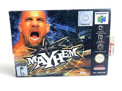WCW Mayhem   Nintendo 64 N64   Boxed With Manual Wrestling PAL