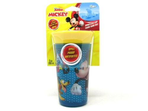 Disney Mickey Mouse Pluto Kids 360 Spoutless Cup 9 oz Spill Proof 12M+ BPA Free